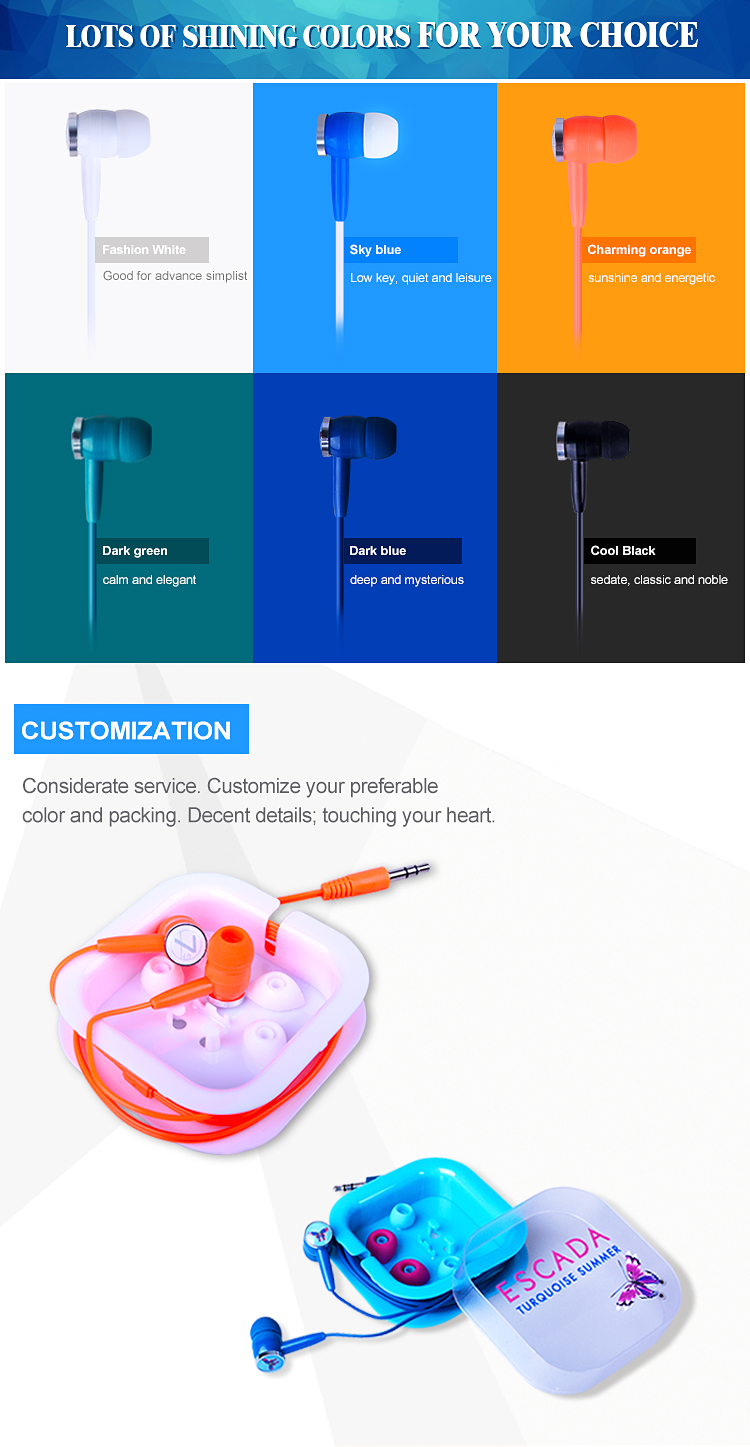 Color customized earphone