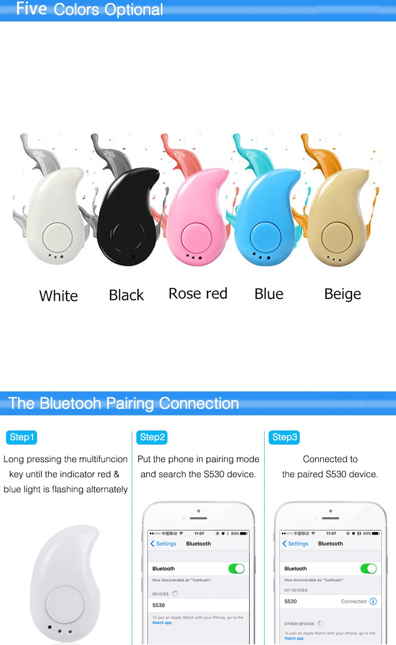 Colorful wireless earphone