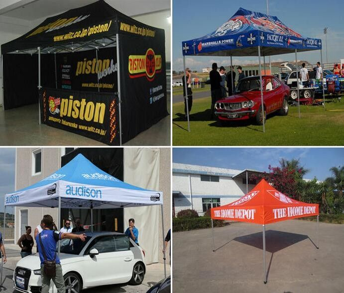 Promotional large strong pop up gazebo , customized outdoor gazebo tent advertising