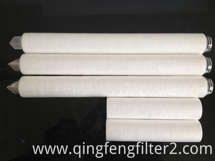 High Flux 10'' 20'' 30 Inches PTFE Filter Cartridges with 0.2um 0.45 Micron