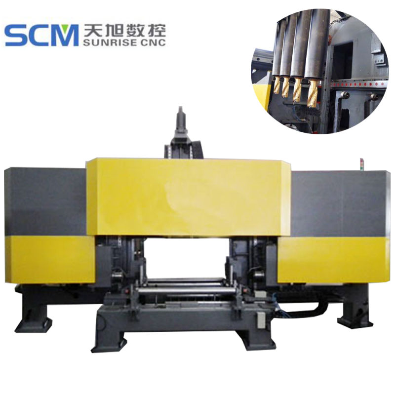 3D Three Spindle CNC Drilling Machine for H U Beams