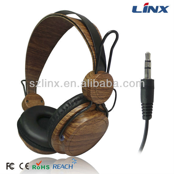 new design customized logo wooden headphone