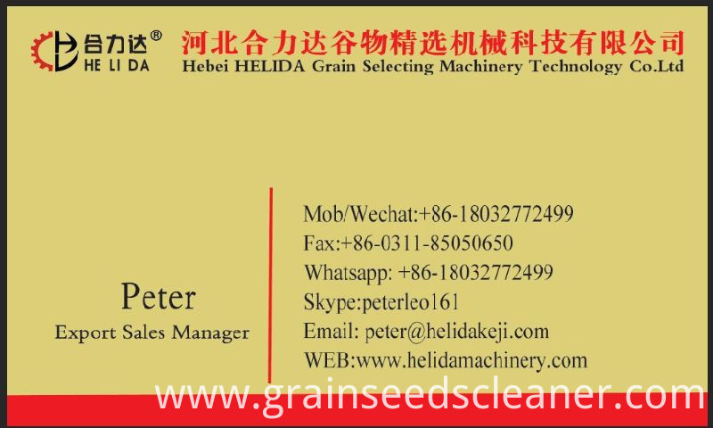 Grain Bean Seed Cleaner Cleaning Machine/Seed Grain Cleaner Grader/Corn Cleaner for Sale