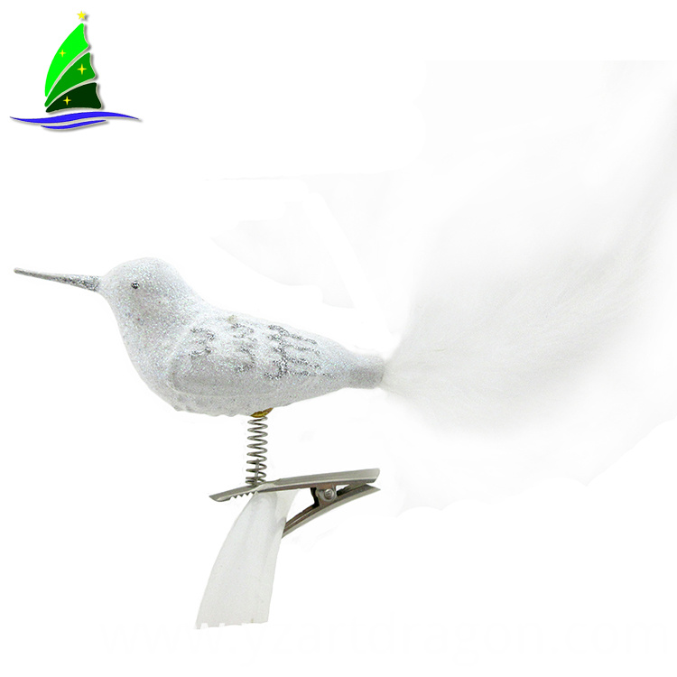 White Bird Christmas Ornaments