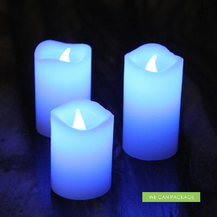 Multi Color Led Flameless Candle