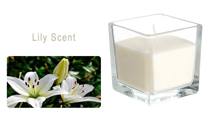 Square Scented Aroma Jar Candle
