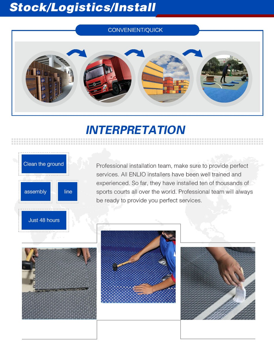 Portable PP Court Tiles