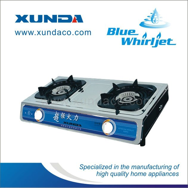 2 Burner Gas Stove with Whirlwind Flame