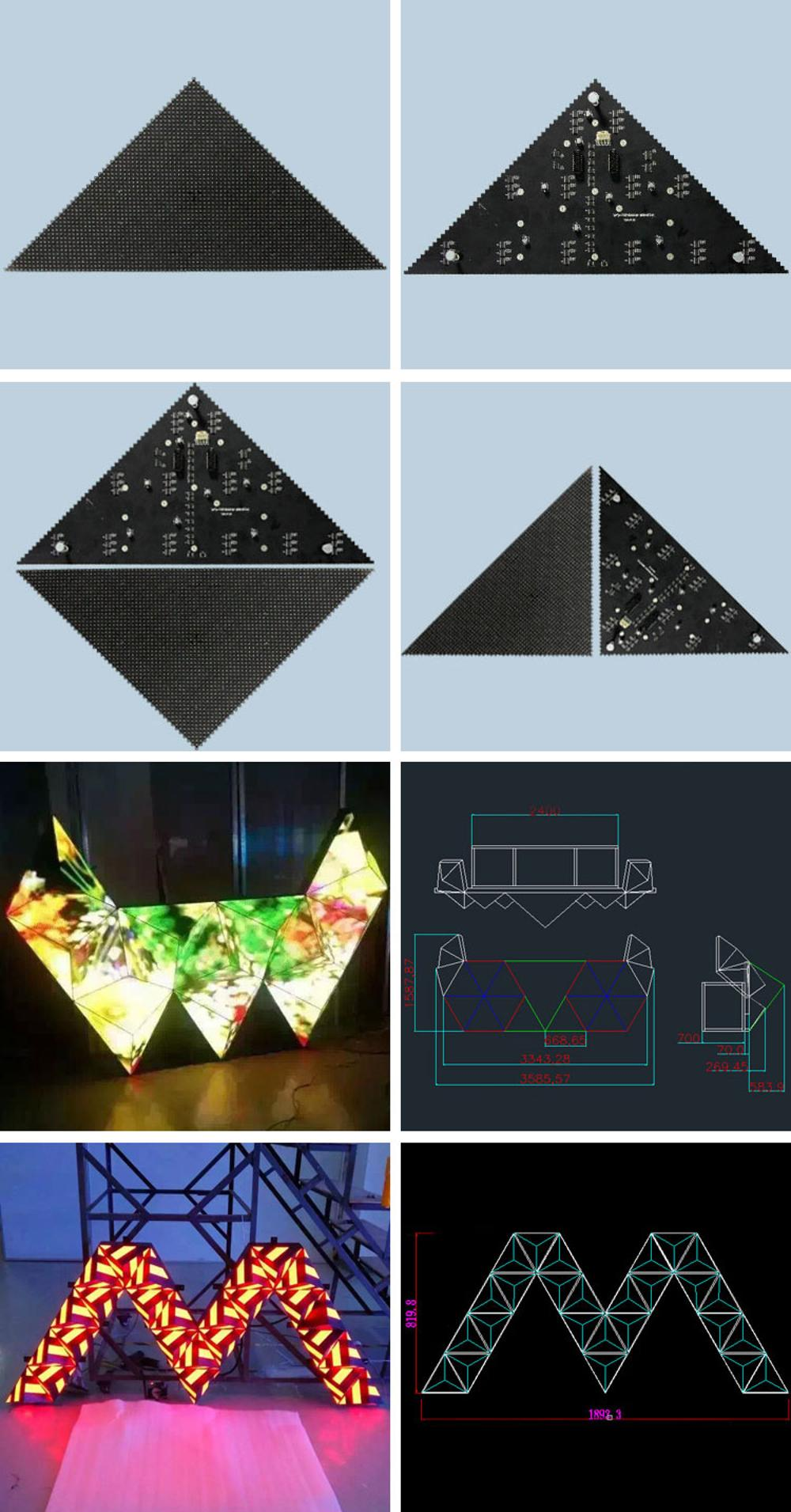 P5 Customized Triangle LED Display