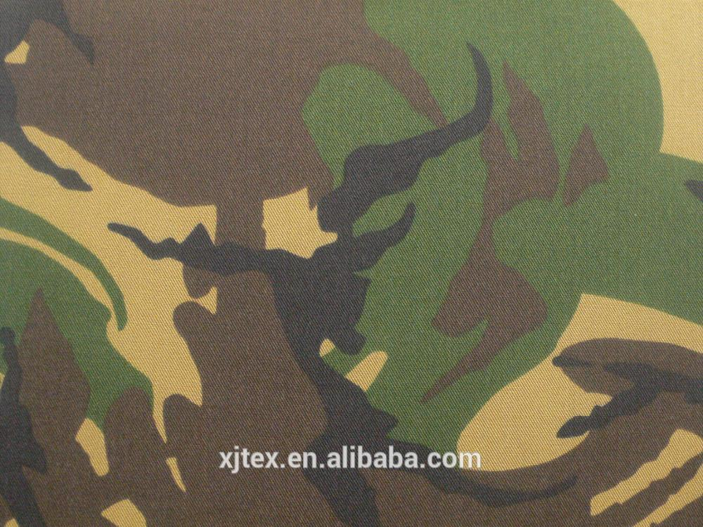 CVC Anti-infrared Woodland Camouflage Fabric for Netherlands with Waterproof and Oil proof