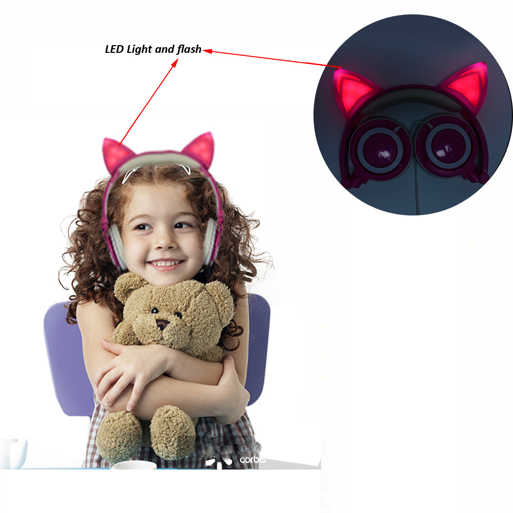 Cat ear headphone for kids