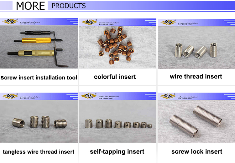 Thread insert installation special tools