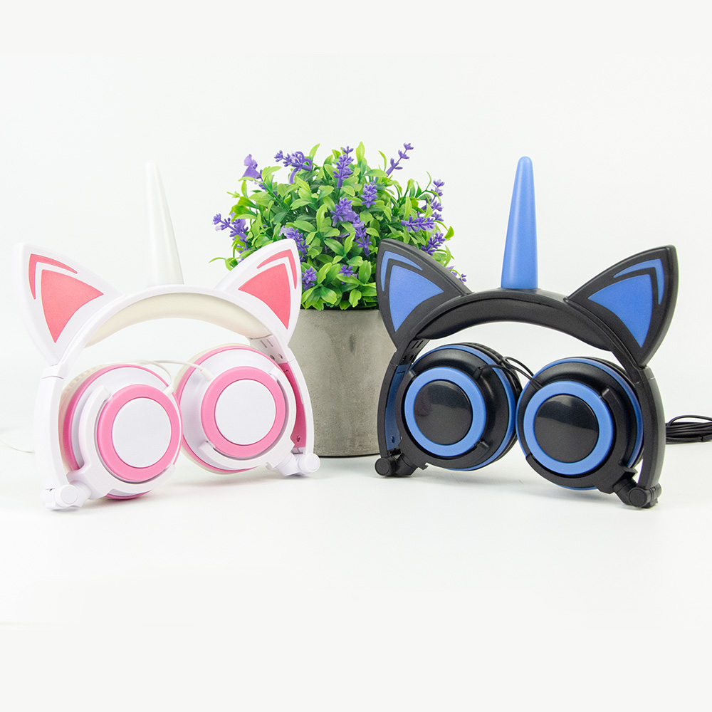 Color customized Unicorn Cat Ear Headphones
