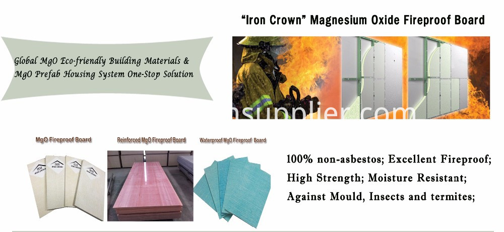 ECO Friendly Heat-proof Corrosion-Resistant MgO Board