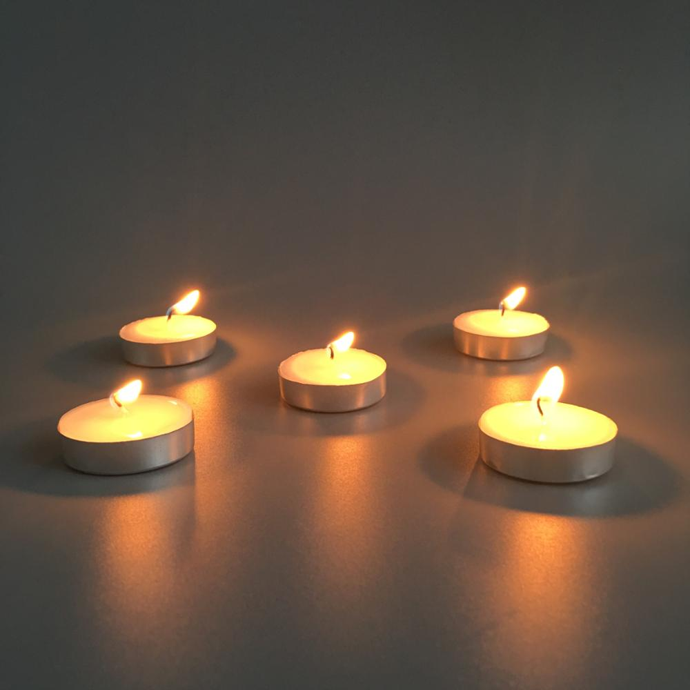 Burning Tealight Candle