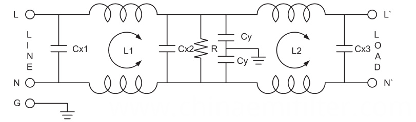 Single Phase Double Stage Noise EMI Filter