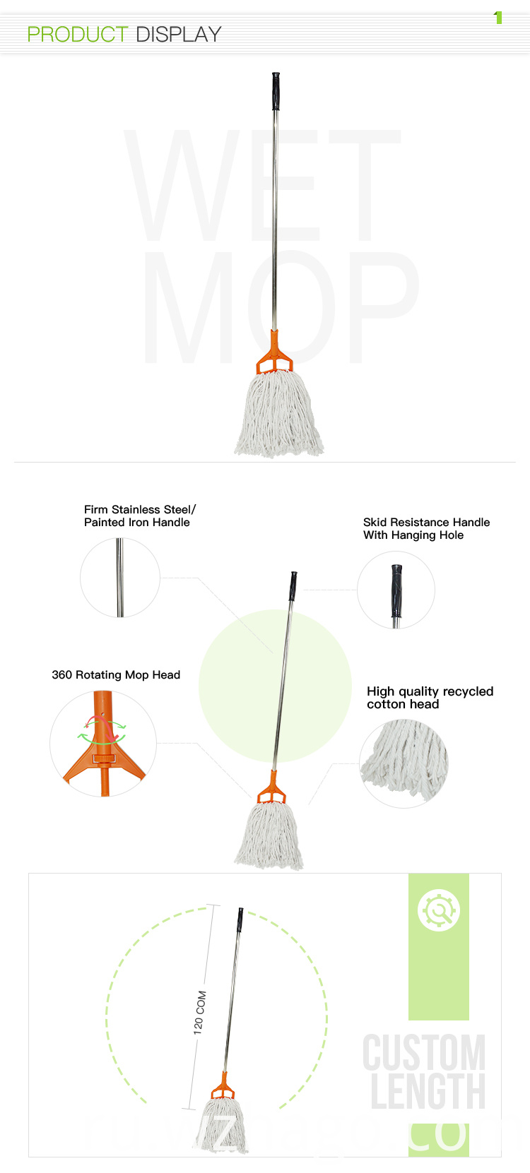 Wet Floor Cleaning Mop