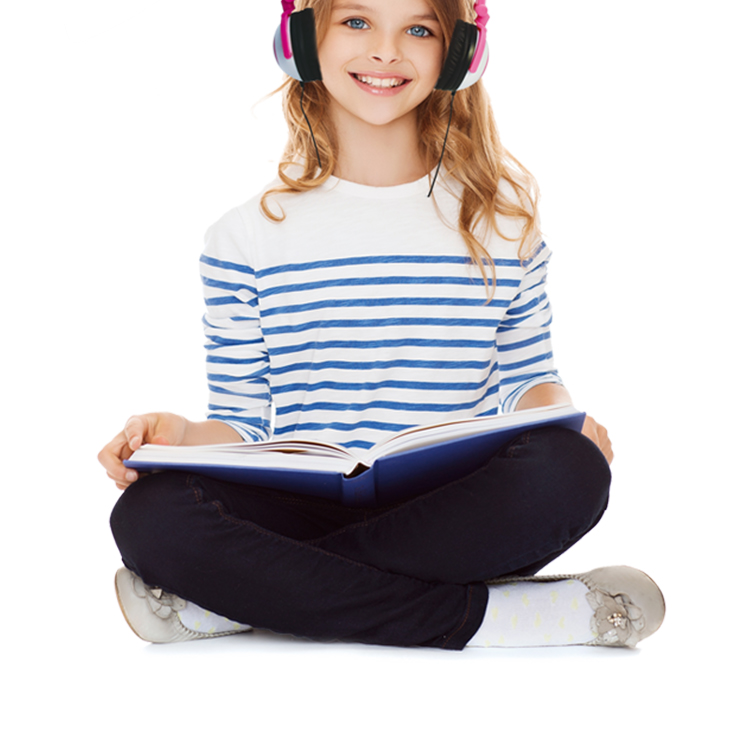 glowing light up kids headphone