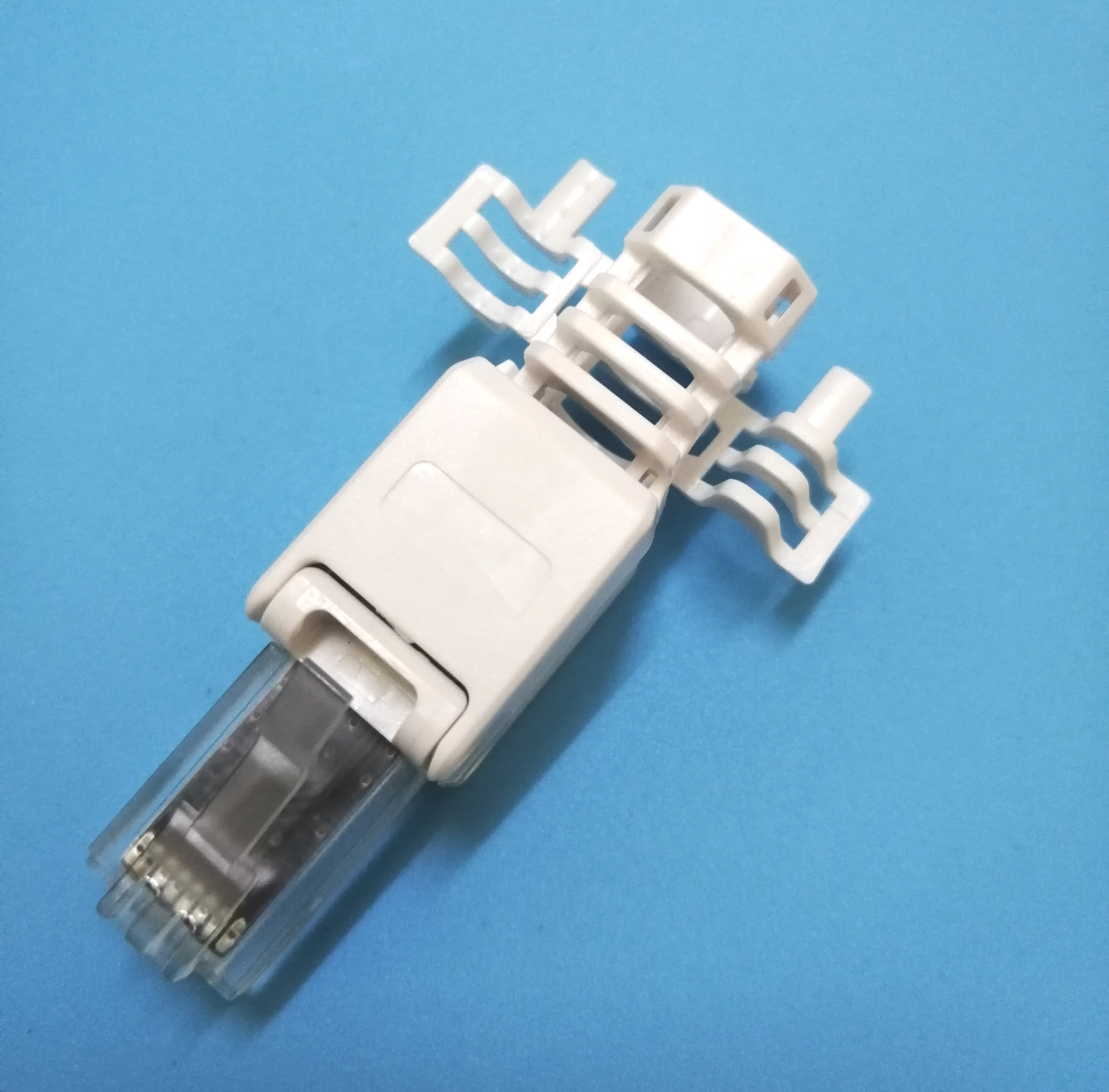 8P8C Male cat6A toolless Modular plug connector