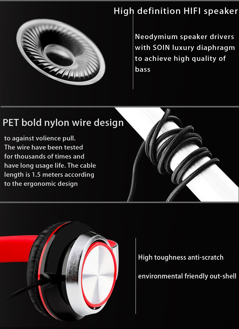 Headphone with strong cable