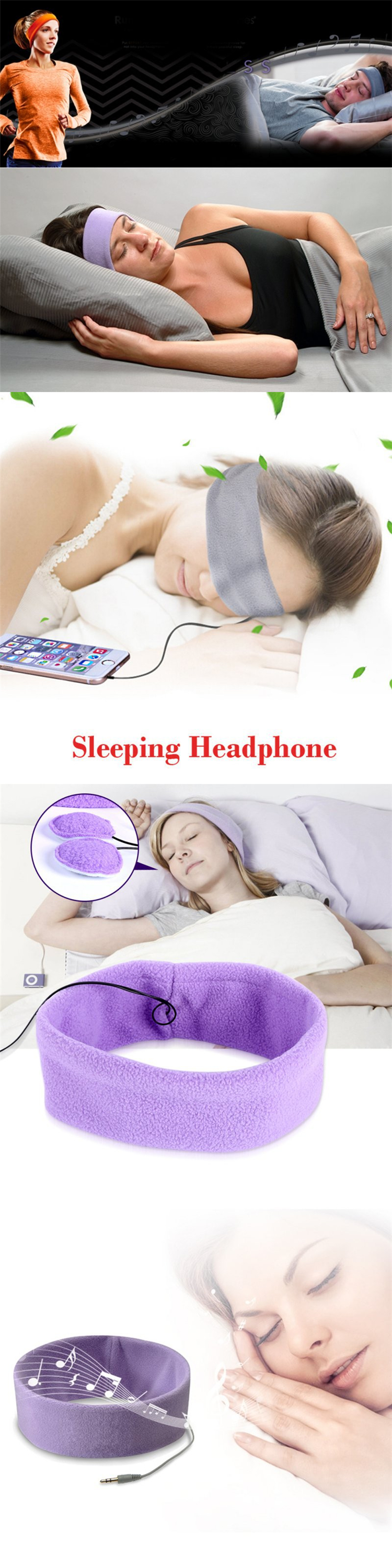 wired logo customized sleeping adult children headphone