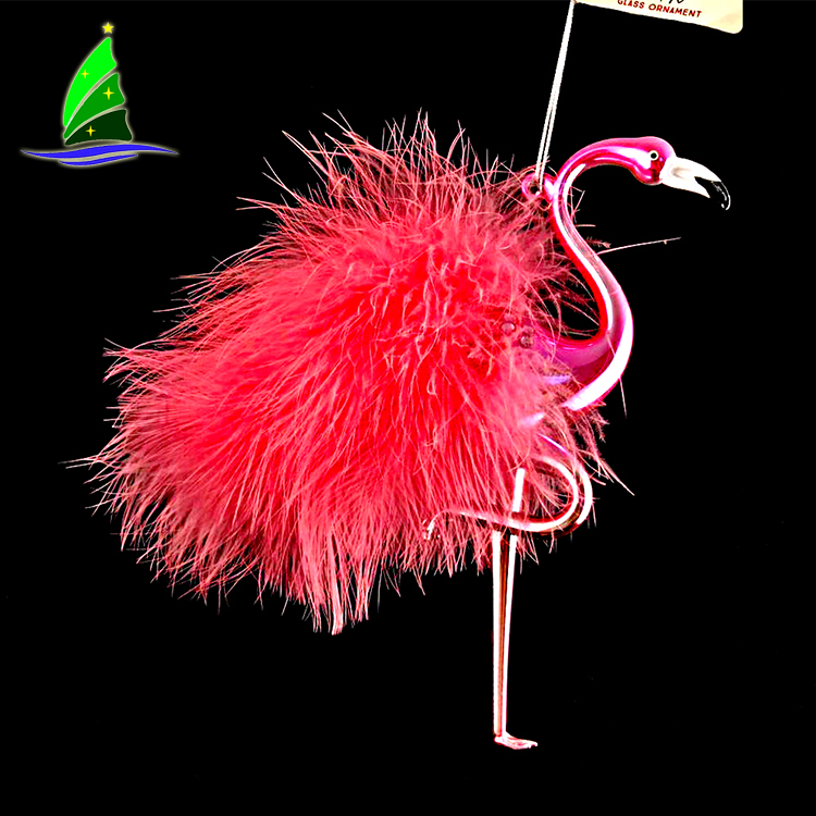 red flamingo ornaments