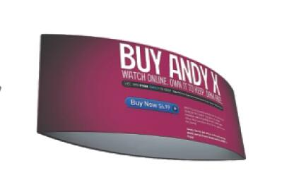 Tapered Round / Circle Hanging Banners For Trade Shows , Full Color Printing