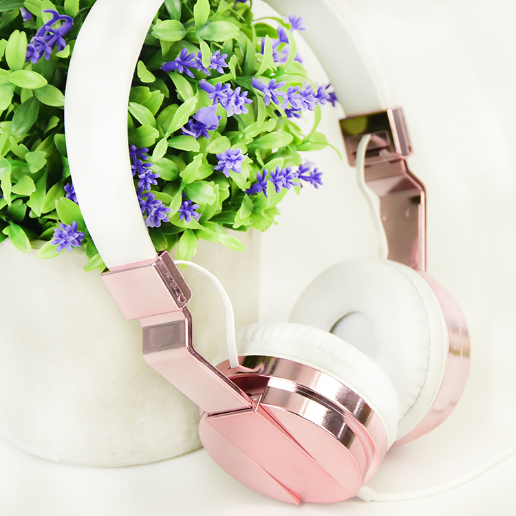 Foldable Gold-rose Color Headphone
