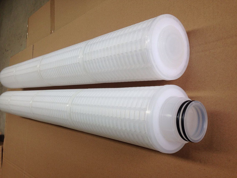 10'' 20 Inch Pes Pleated Filter Cartridge 0.2um 0.45 Micron for Pharmaceuticals and Chemicals
