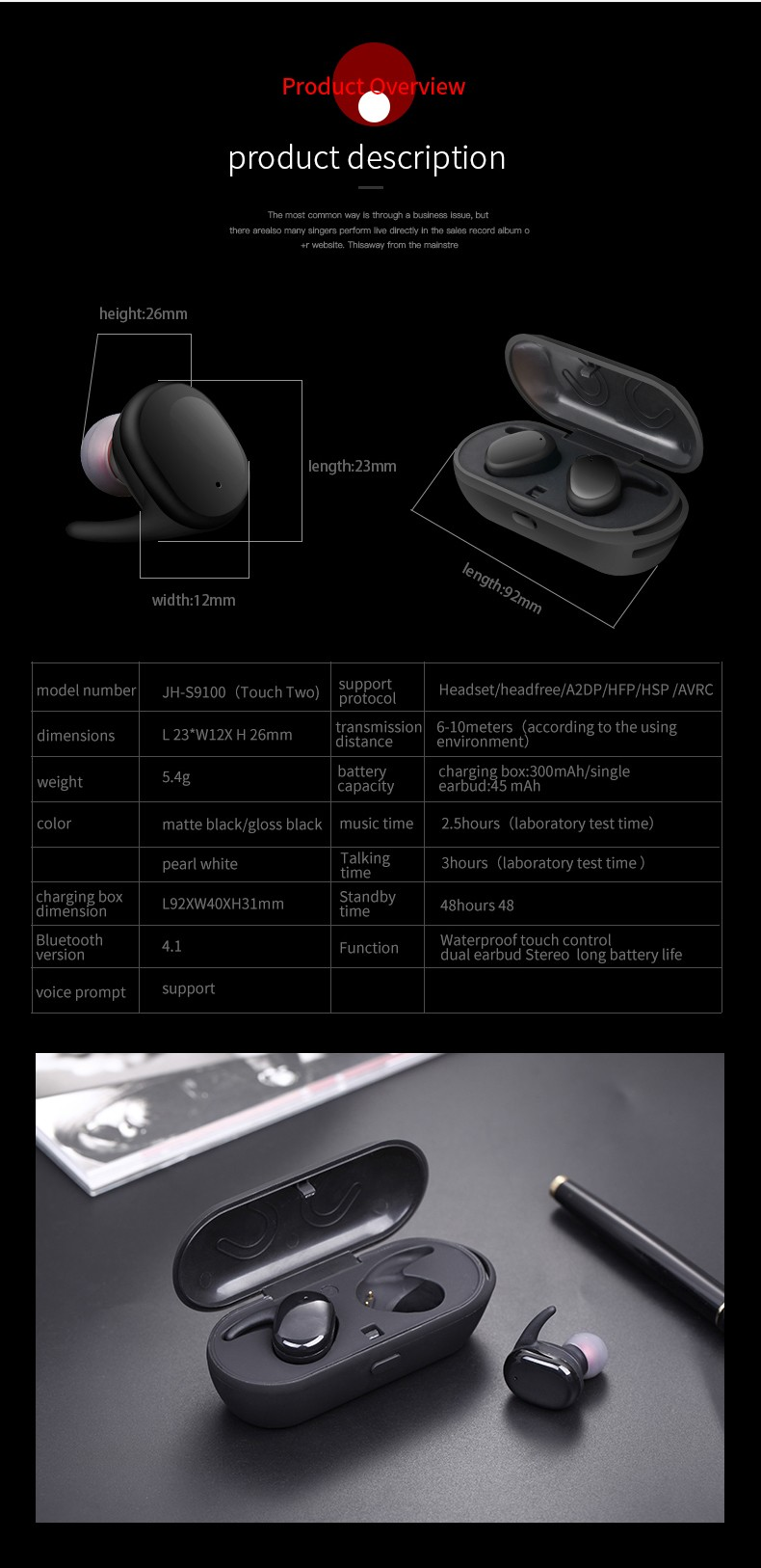 Hot selling earphone mini