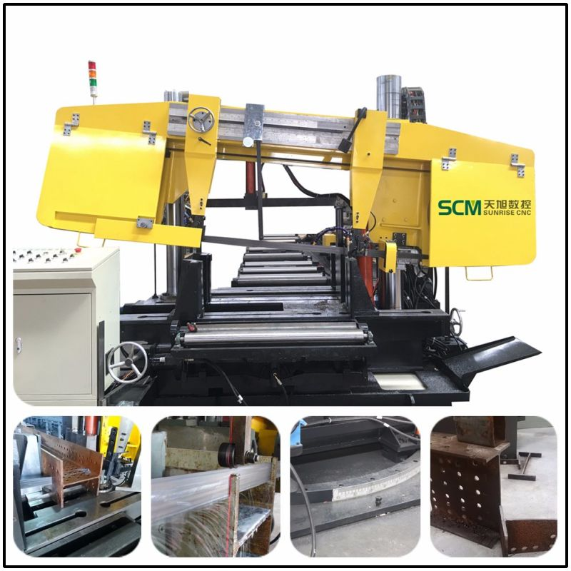 Tbs1000 Beams and Tubes Band Saw Machine for Steel Fabrication
