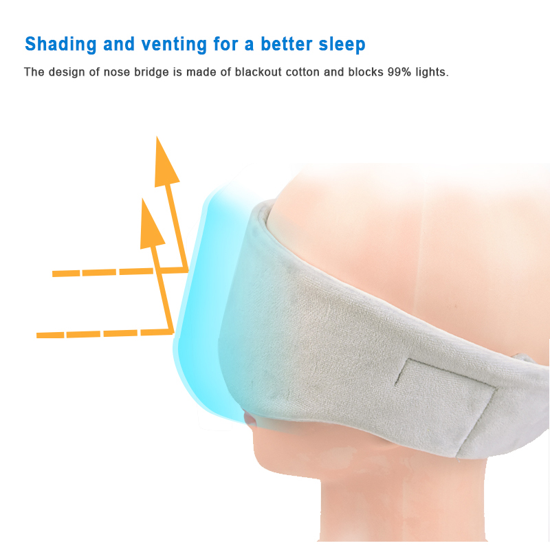 Thin Bluetooth Wireless Eye Mask Headphones for Sleeping