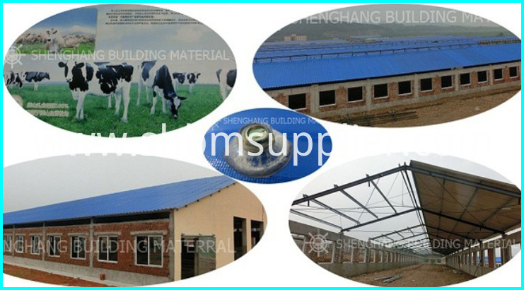 High strength fiber glass sheet roof